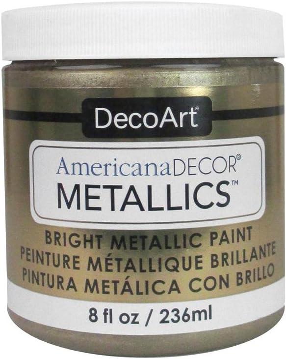 DecoArt Ameri Deco MTLC Cham Americana Decor Metallics 8oz ChampagnGld, 1, Champagne Gold, 8 Fl Oz