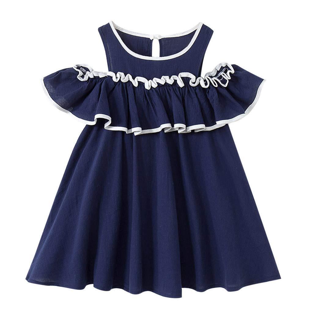 Jaminy M/ädchen Bowknot Prinzessin Rock Sommer Kleider f/ür Baby Kleinkinder Kinder