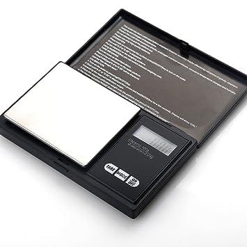 ZOGIN Mini Báscula Digital de Precisión / Balanza de Pesaje Electrónico Digital de Bolsillo, de 100 x 0.01g, Color Negro: Amazon.es: Hogar