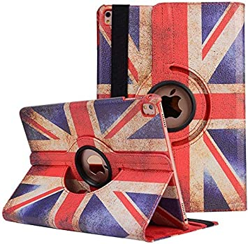 YiMiky PU Leather 360 Degree Rotate Case Unique Flag Pattern Smart Folio Stand Cover Book Style Slim Flip Protective Sleeve for iPad Air 3 10.5//iPad Pro 10.5 3rd Gen iPad Air 10.5 Case UK-Flag