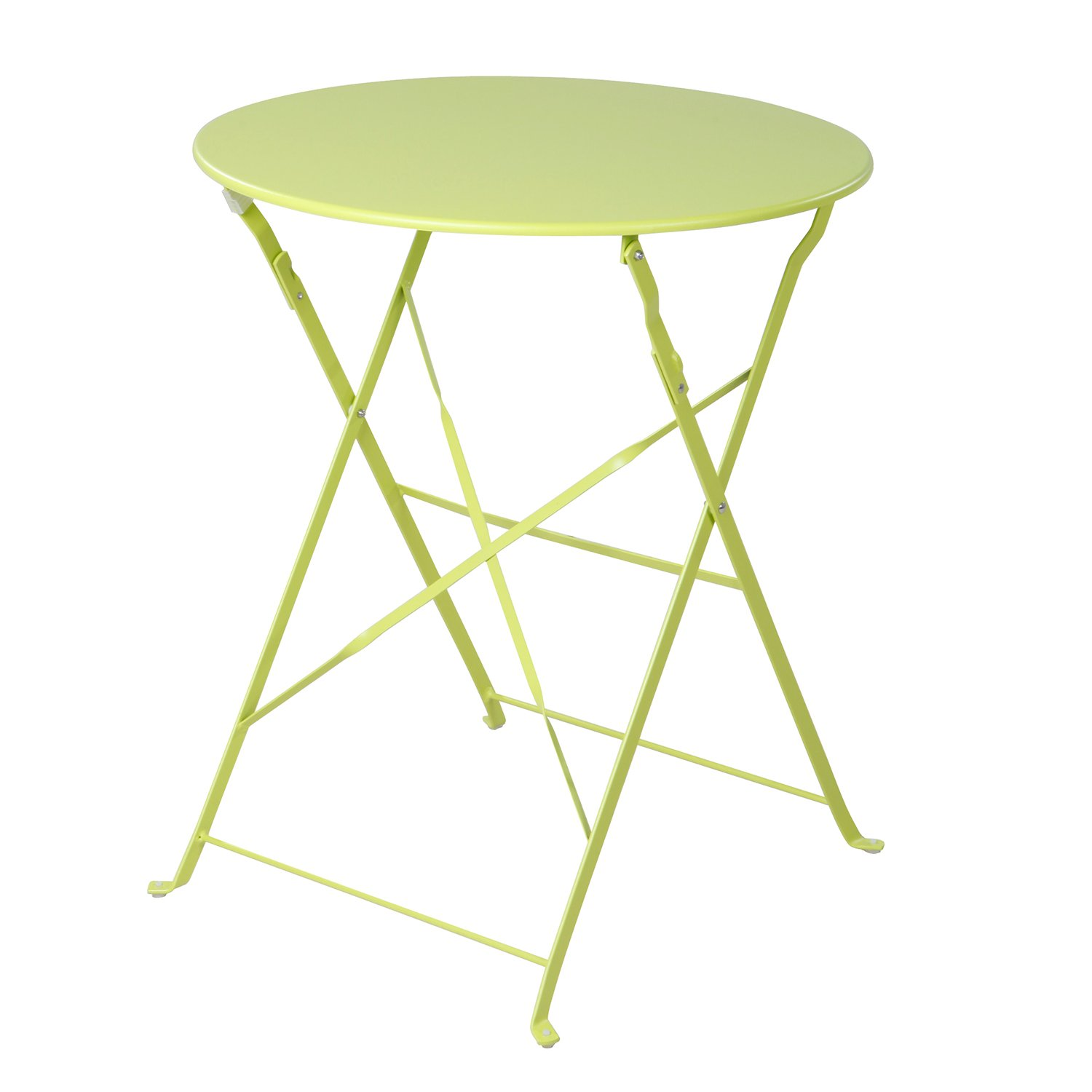 Grand patio 3-Pack Sling Glider Folding Steel 2 Chairs Round Table Indoor Corner Sets,Vivid Green by Grand patio (Image #8)