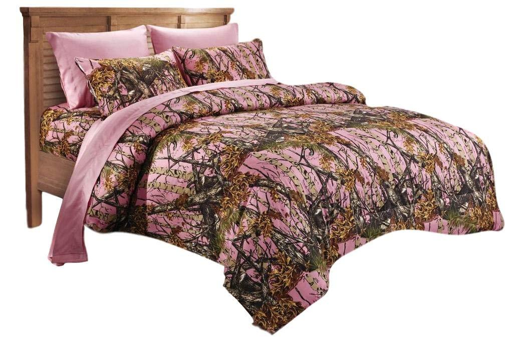 20 Lakes Woodland Hunter Camo Comforter, Sheet, Pillowcase Set (Twin, Black) Duke Imports
