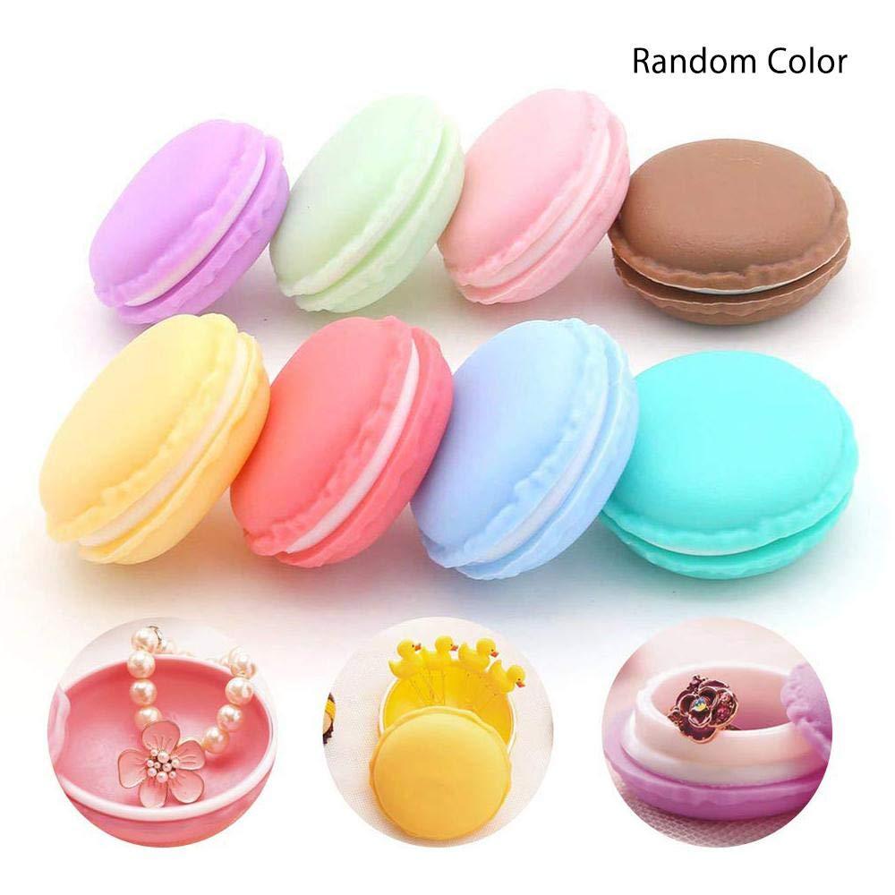 Macaron Box, Aolvo Colorful Cute Fun Portable Mini Macaron Jewelry Storage Case Macaron Shape Pill Box Storage Organizer - Ear Buds Earplug Necklace Ring Trinket Box