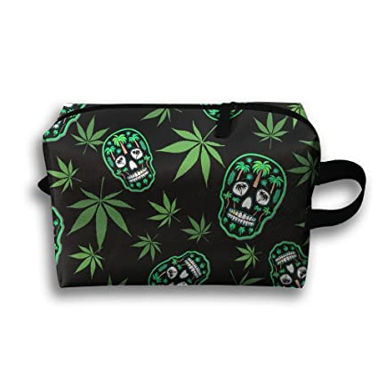 094c14cf7bef Amazon.com: Lqzdqa Unisex Tourist Bag Skull And Skull Of Weeds ...