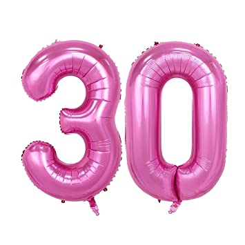 40inch Pink Number 30 Jumbo Foil Helium Balloons For Bithday Party Festival Decorations Photo Props
