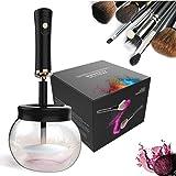Pinceles de maquillaje limpieza y Secado Automático Herramienta de Limpieza de Cepillo Cosmético con 8 Caucho 360 Grados de Rotación Eléctrica por VIKILY
