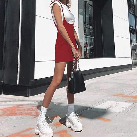 e417911006 KoLan Womens Skirts Women's Pencil Dress Summer Sexy Solid Lace-Up Straps  Wrap Skirt Suspender Irregular Slit Mini Skirt at Amazon Women's Clothing  store: