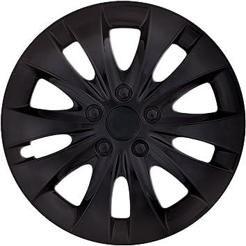 Cm Design Größe Farbe Wählbar 16 Zoll Radkappen Storm Black Schwarz Universal Radzierblenden Passend Für Fast Alle Fahrzeuge Auto