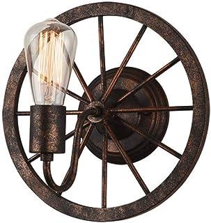ZXT Ruota lampada da parete retrò personalità creativa corridoio decorazione navata stile industriale vento lampada da parete in ferro battuto