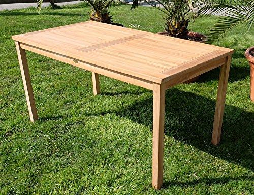 TEAK XL Holztisch 150x80cm Gartenmöbel Gartentisch Garten Tisch Holz sehr robust Modell: ALPEN von AS-S