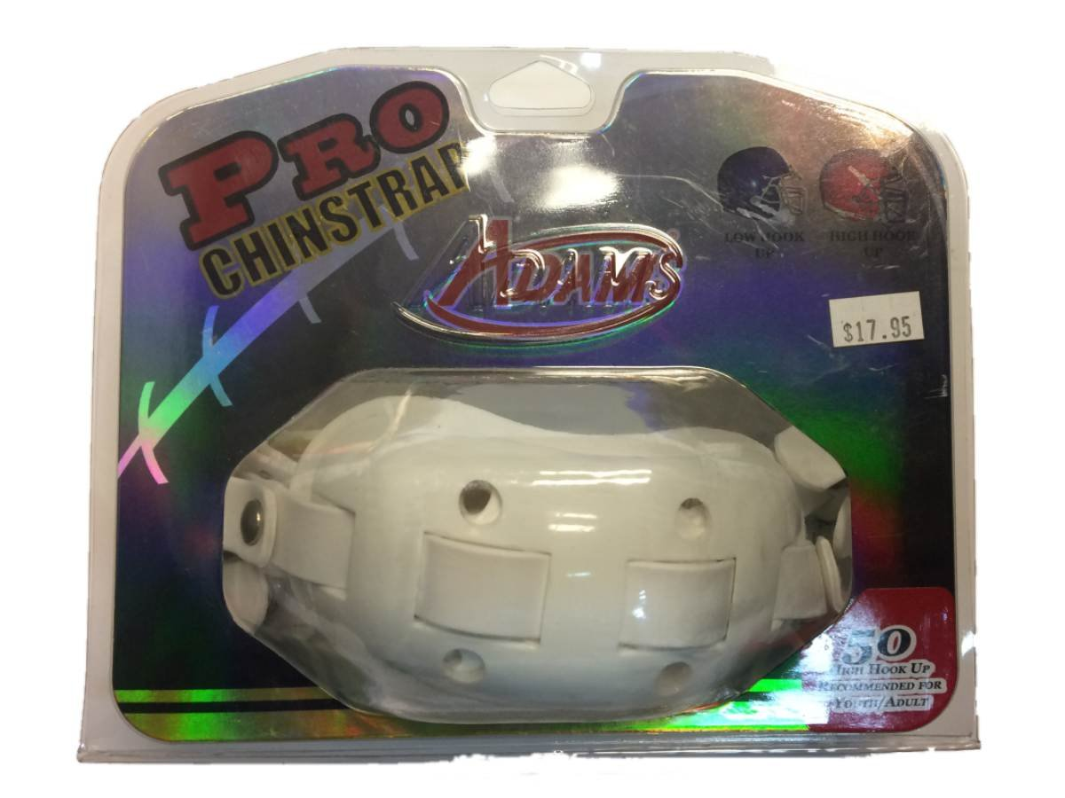 Adams USA PRO-50-4D 4-Point High Football Chin Strap with D-Rings