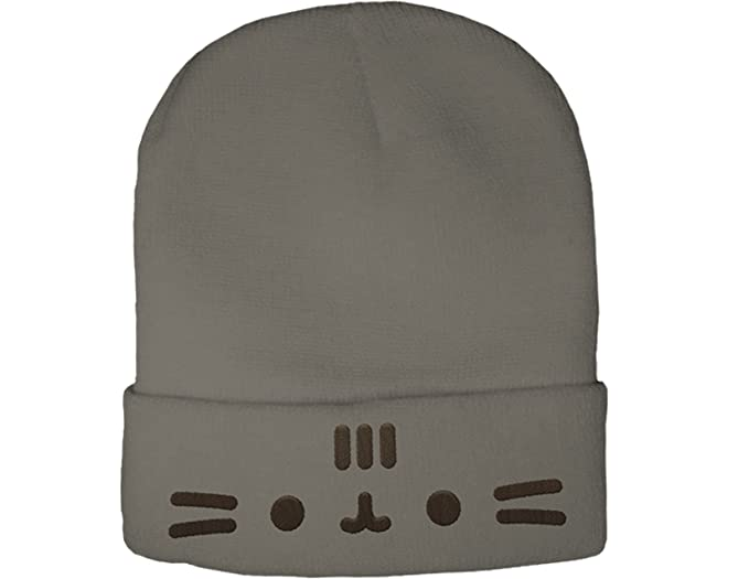 Image Unavailable. Image not available for. Color  Pusheen the Cat Cuffed  Face Beanie ... e13ce57569f0