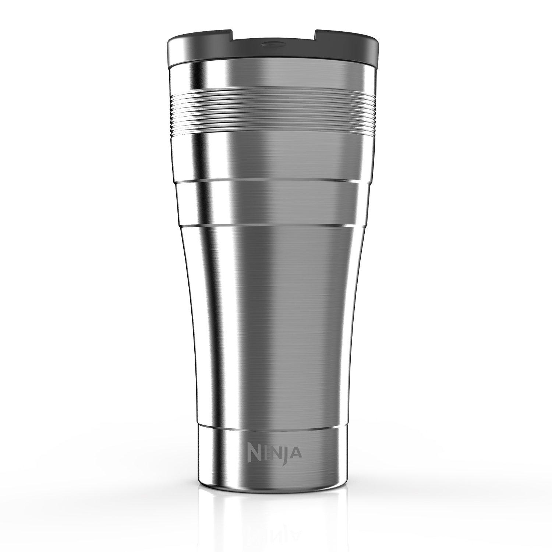 Ninja Coffee Bar XL 22-Ounce Double-Wall Thermal Multi-Serve Travel Mug (CFSSTM22W), Stainless Steel