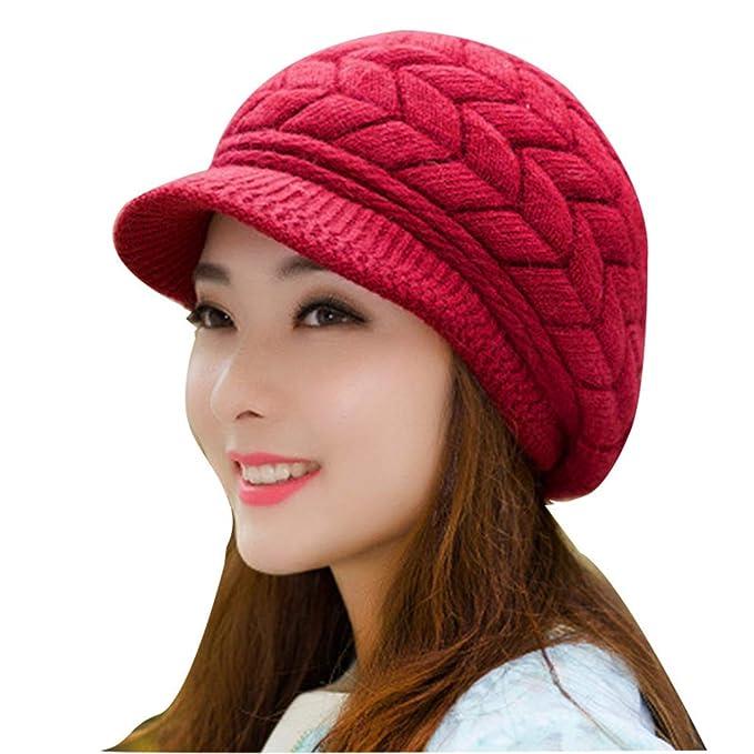 fc79dc844 RXIN Winter Beanies Knit Women's Hat Winter Hats for Women Ladies Beanie  Girls Skullies Caps Bonnet Femme Wool Warm Hat at Amazon Women's Clothing  store: