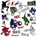 EXTREME SPORTS 25 BiG Wall Stickers BMX SKATE Room Decor Decals SKATEBOARD bOyS