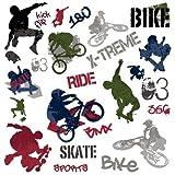 best bmx wall decal EXTREME SPORTS 25 BiG Wall Stickers BMX SKATE Room Decor Decals SKATEBOARD bOyS
