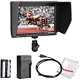 Feelworld FW74K 7 Inch HD 1280x800 IPS Camera Field Monitor with 2200mAh Battery for Panasonic GH4 Sony A7S FS7
