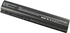 New Replacement Battery for HP Pavilion DV9000 DV9500 DV9700 Series, fits P/N 448007-001 432974-001 434674-001 EX942AA - 12 Months Warranty [Li-ion 8-Cell 14.4V 5200mAh]
