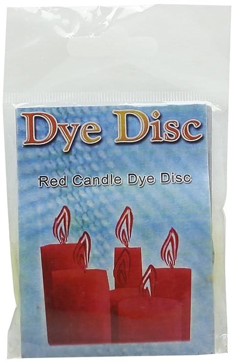 Molde Master Discos de Dye para Hacer Velas, Color Rojo