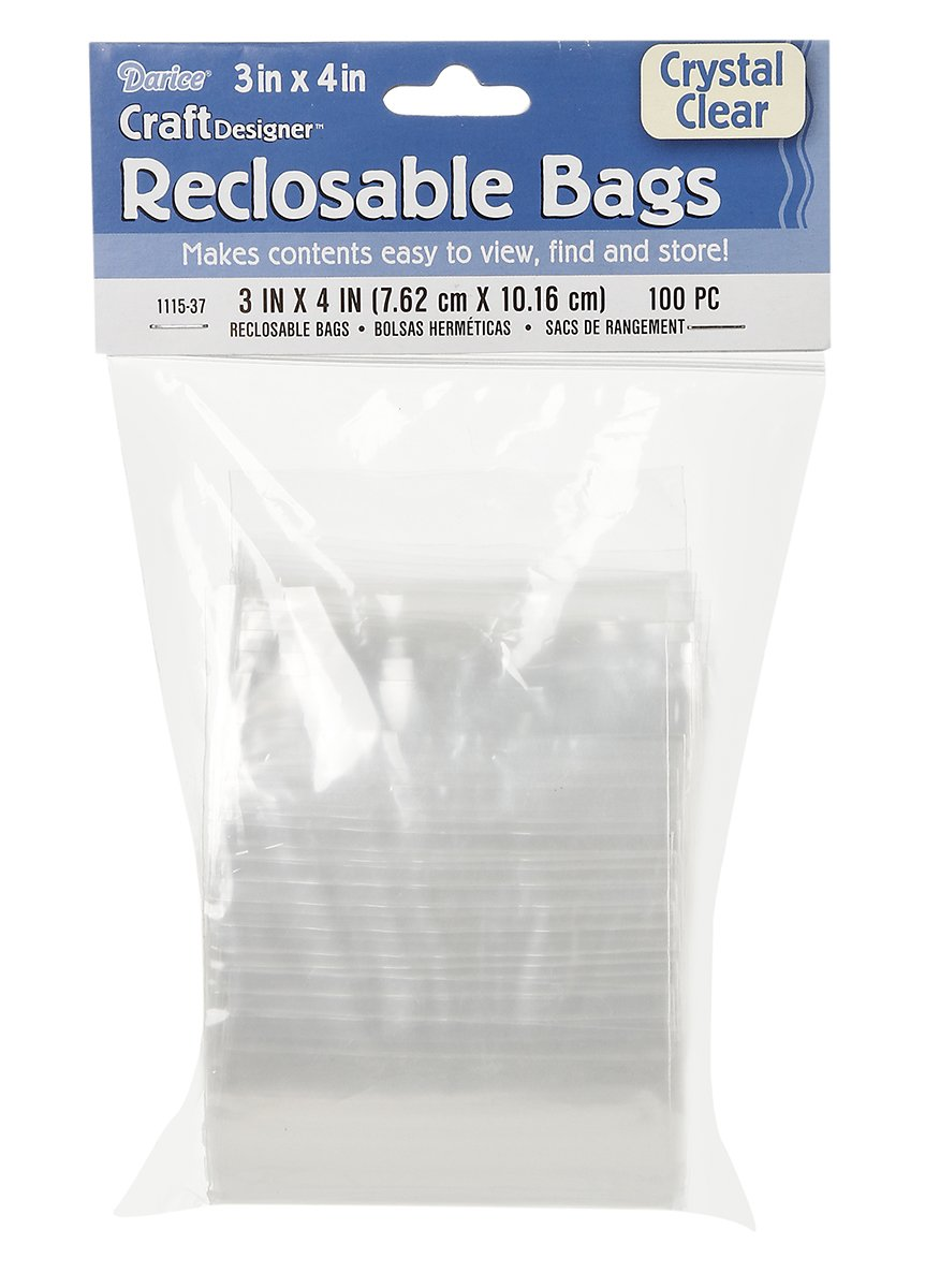 Amazon.com - Darice Bags - Crystal Clear - Reclosable - 3 x ...