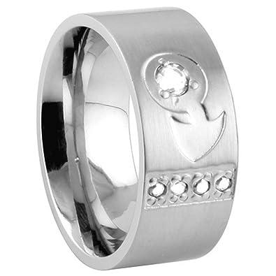 Amazon 316l Stainless Steel Ring Female Venus Symbol Cz Stones