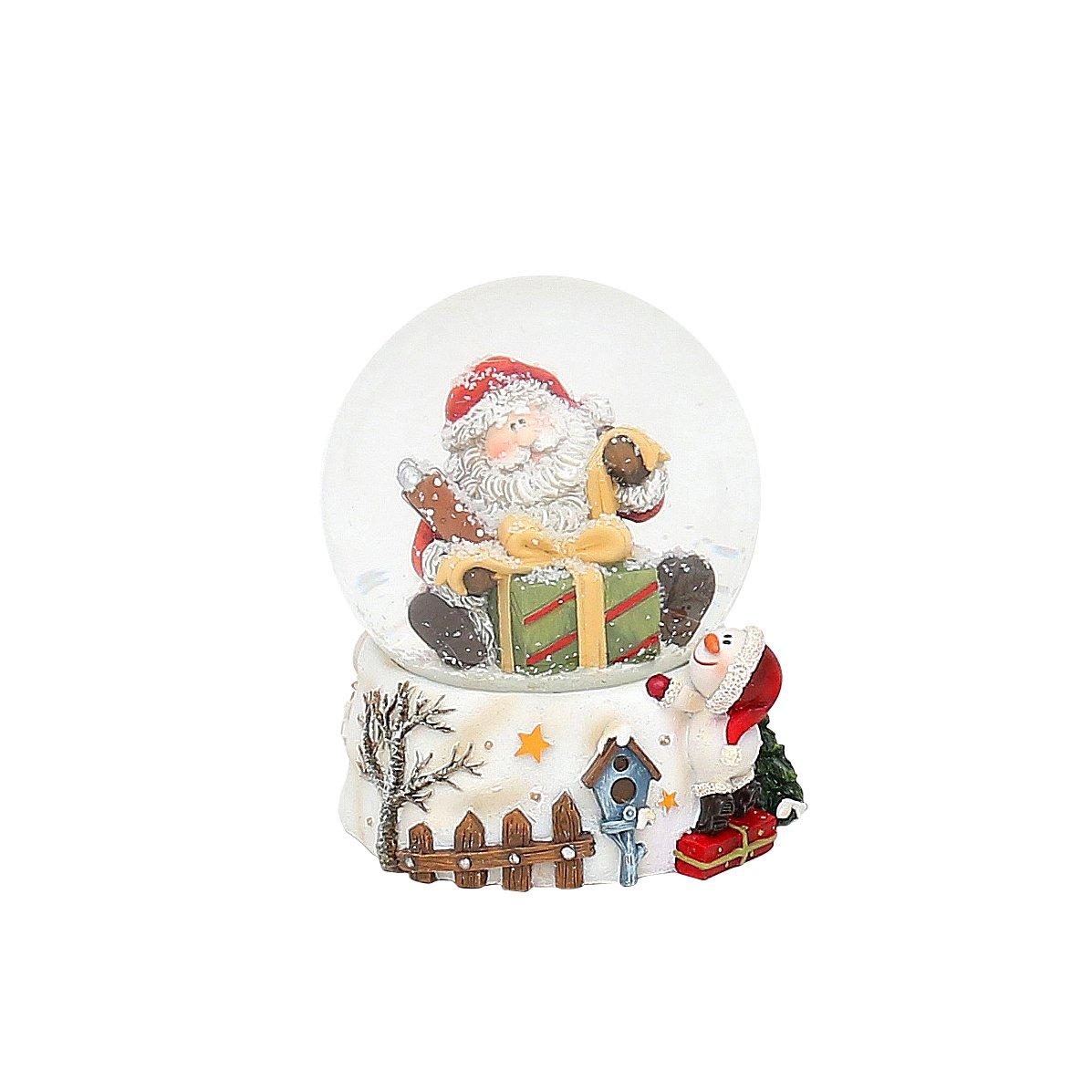 Piccola palla di neve con Babbo Natale, L/L/A 7x 7x 9,5cm, diametro sfera 6,5cm Baum L/L/A 7x 7x 9 5cm 5cm Baum Dekohelden24
