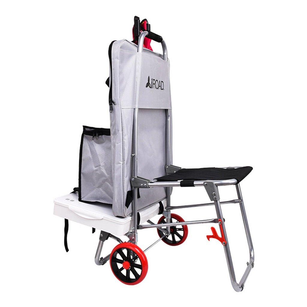 DS-ハンドカート ペインティングツールカート/多機能トロリー/折りたたみ式階段クライミングカート/シートペインティングバッグカー/アートカー&& (色 : シルバー しるば゜) B07KG3KQTY シルバー しるば゜