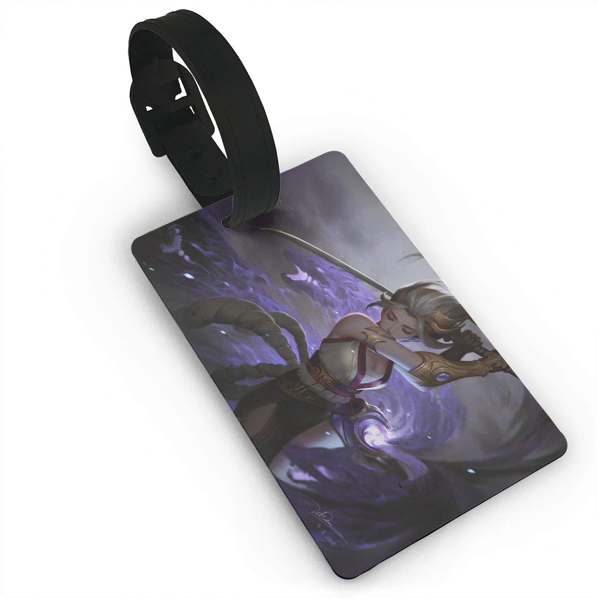 Amazon.com: JimHappy Luggage Tag Murasaki Digital Fantasy ...