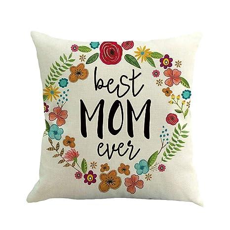 Xmansky Funda de Cojín Almohada Feliz día de la madre todos ...