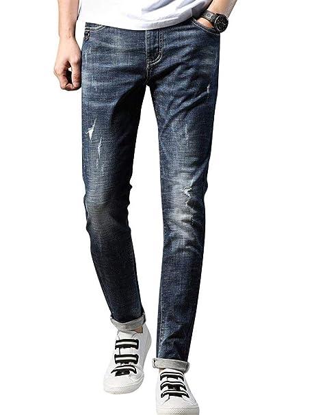 Moda Masculina De Los Hombres Jóvenes Pantalones Vaqueros ...