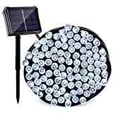 Qedertek Upgraded Solar/Battery Powered String Lights, 72ft 200 LED Dual Power Seasonal Decorative Fairy Lights for Christmas, Home, Garden, Patio, Lawn and Party Decorations(Cool White)