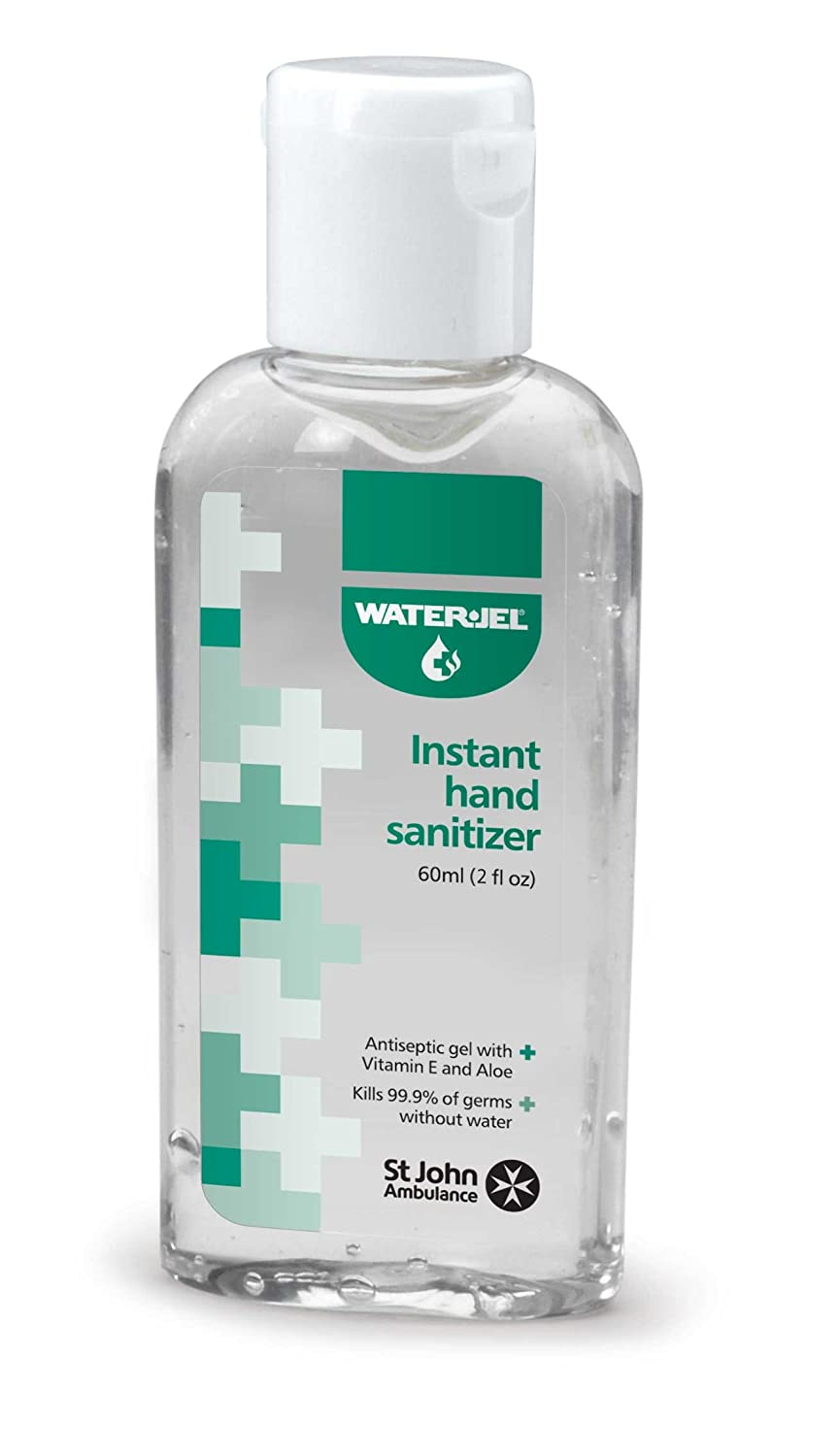 St John Ambulance & Waterjel 60ml Hand Sanitiser Waterjel & St John Ambulance SJA75070