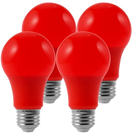 techgomade red light bulb christmas light 40w red bulbs equivalent holiday light a19 led