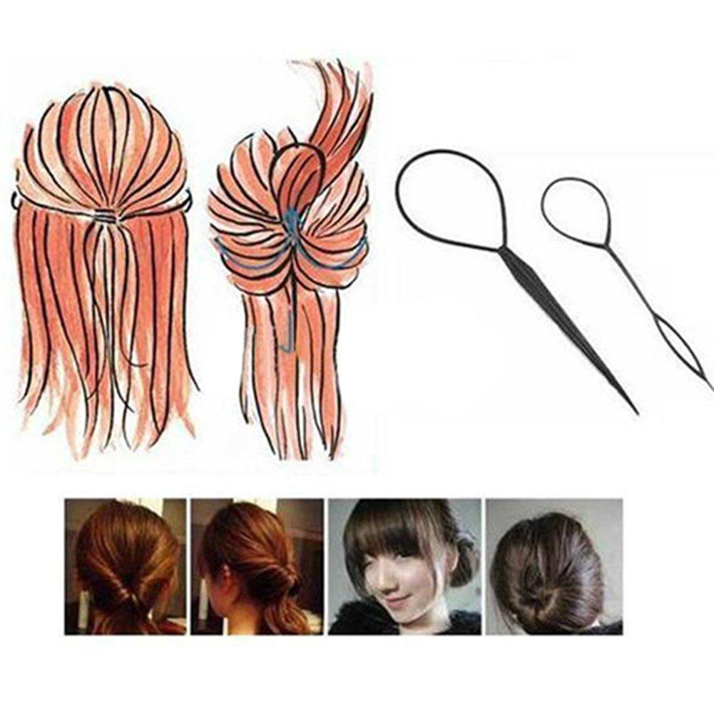 Gemini Mall® 2pcs Topsy Queue Cheveux Tresse Outil Queue de cheval Maker facile Styling Outil Gemini_mall
