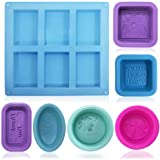 13 pcs Soap Making Molds, FineGood Food Grade Silicone Soap Mold, Cupcake Muffin Soft Baking Pan Mould for DIY Homemade…