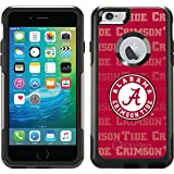 Alabama - Repeating design on Black OtterBox Commuter Series Case for iPhone 6 Plus and iPhone 6s Plus