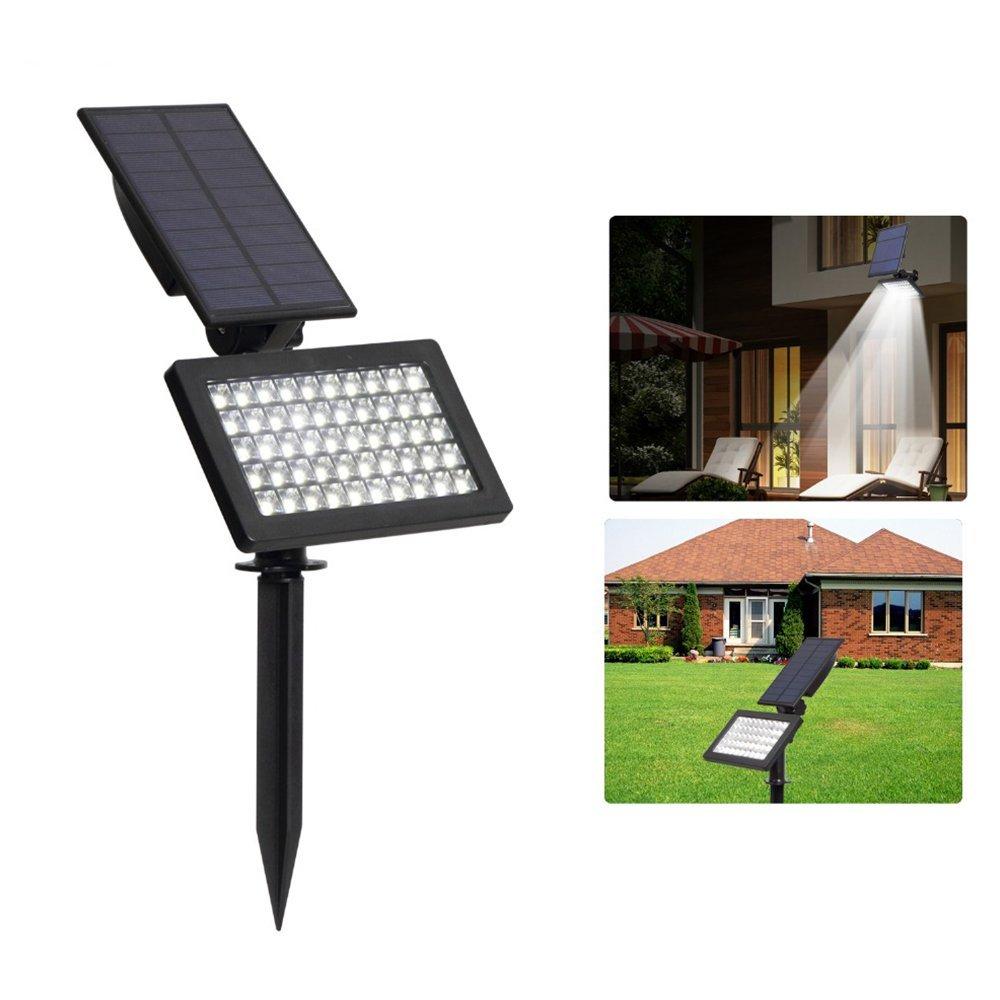 Alapaste Solar Spotlight,Waterproof 50 LED Outdoor Floodlights Security Solar Light Landscape Lighting Super Bright Solar Powered Adjustable Wall Lamp for Garden, Yard, Lawn, Driveway (White Light)