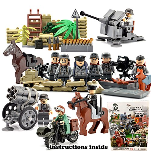 Ww2 Military Building Block Toy Set German Army Soldiers