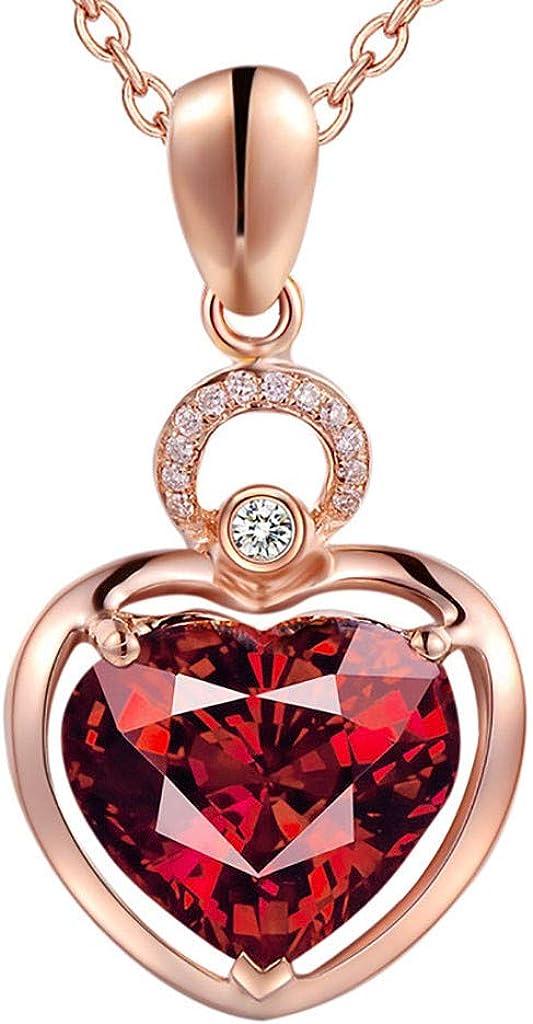 Qiiueen💦Collares Mujer, Temperamento Natural, Collar de Granate, Incrustaciones de rubí clavícula Cadena, Regalos para La Esposa: Amazon.es: Joyería