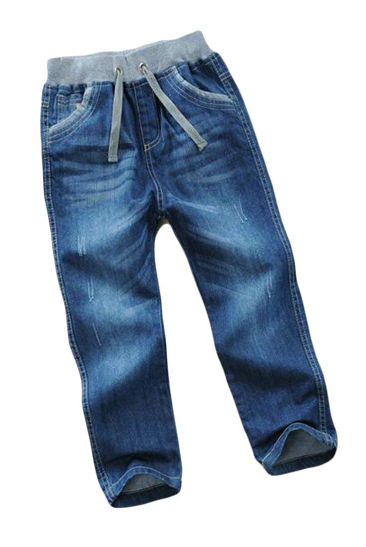 Nanquan-women clothes NQ Boys Straight Leg Washed Denim Kids Jeans Pants one 5/6