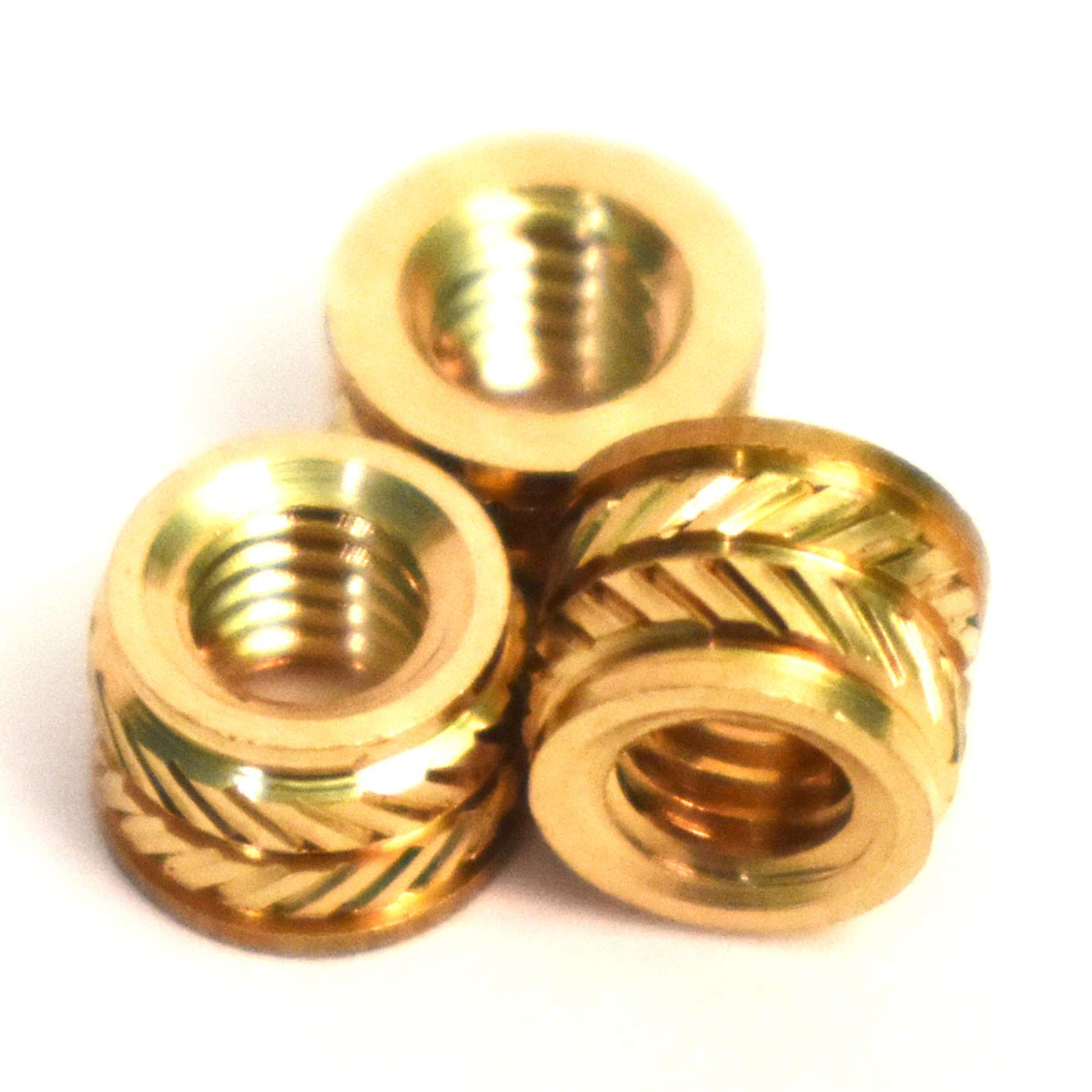 Press Fitting or Heat Sink or Injection Molding Type M4 Brass Insert 50pcs,6.5mm OD 50 pcs 4.7 mm Length J/&J Products Female M4 Thread