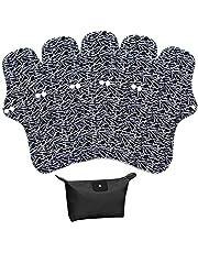 LIVEHITOP Herbruikbare Maandverband Pads - 5 Pack, 32.5cm XL Zware Stroom Wasbare Menstrual Pads PostPartum Verpleging Nappy Bamboe Houtskool Polyester Met Opbergtas Gift voor Vrouwen