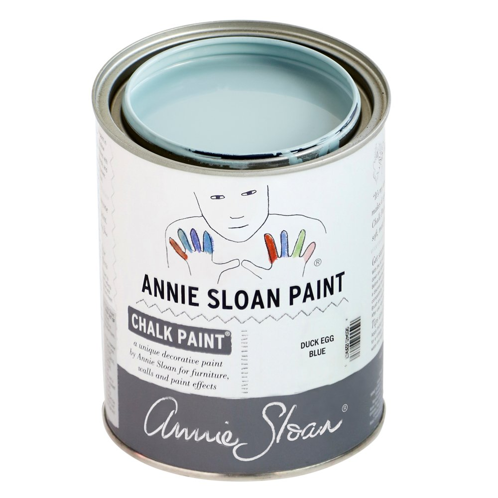 Chalk Paint (R) by Annie Sloan – Decorative Paint for Furniture, cabinets, Floors, Home Decor, and Accessories – Water-Based – Non-Toxic – Matte Finish (Quart - 32oz, Duck Egg) by Annie Sloan