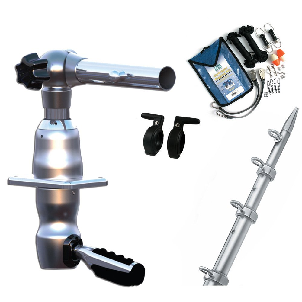 Premium Rigging Kit /& Line Caddy TACO METALS GS-2842VEL-1 TACO Grand Slam 280 Package w//15 Silver//Silver Poles