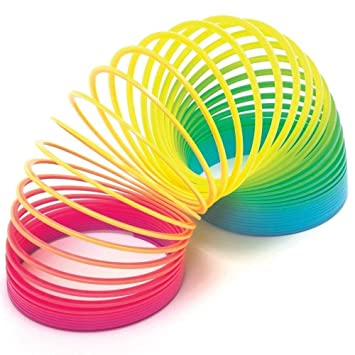 Axiotif Magic Spring Rainbow - Bouncy Stretchy Slinky Toys- Set of 2