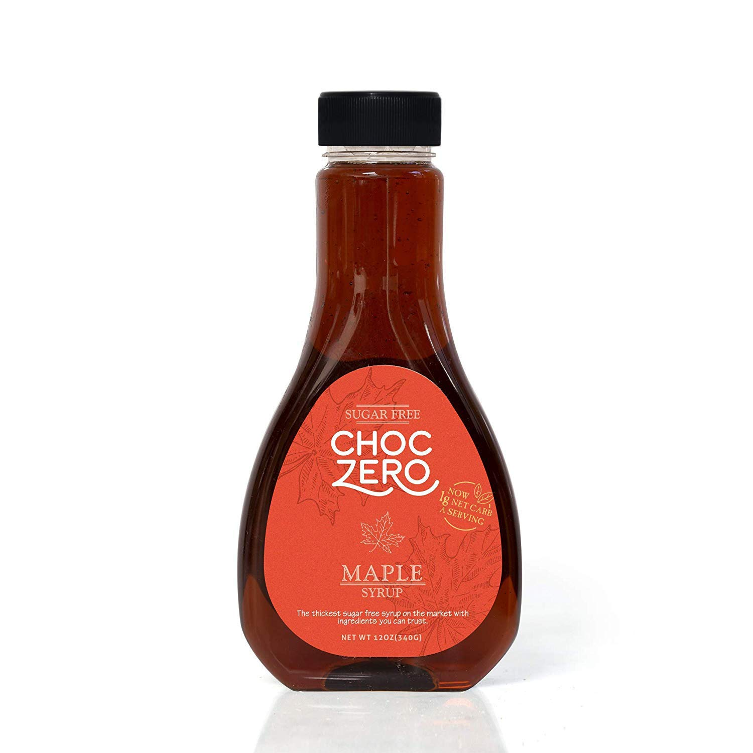 ChocZero Maple Syrup. Sugar Free, Low Carb, Sugar Alcohol Free, Gluten Free, No preservatives, Non-GMO. Dessert and Breakfast Topping Syrup. 1 Bottle(12oz)