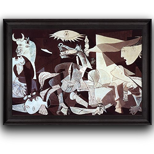 Wall26® - Guernica by Pablo Picasso - Cubism, Painter, Sculptor - Framed Art Prints, Home Decor - 16x24 inches (Pablo Picasso Guernica)