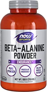 NOW Sports Nutrition, Beta-Alanine Pure Powder 2,000 mg, Muscular Endurance*, 500 Grams