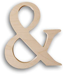 Darice Fancy Wooden Letter Ampersand - Unfinished - 7.25""