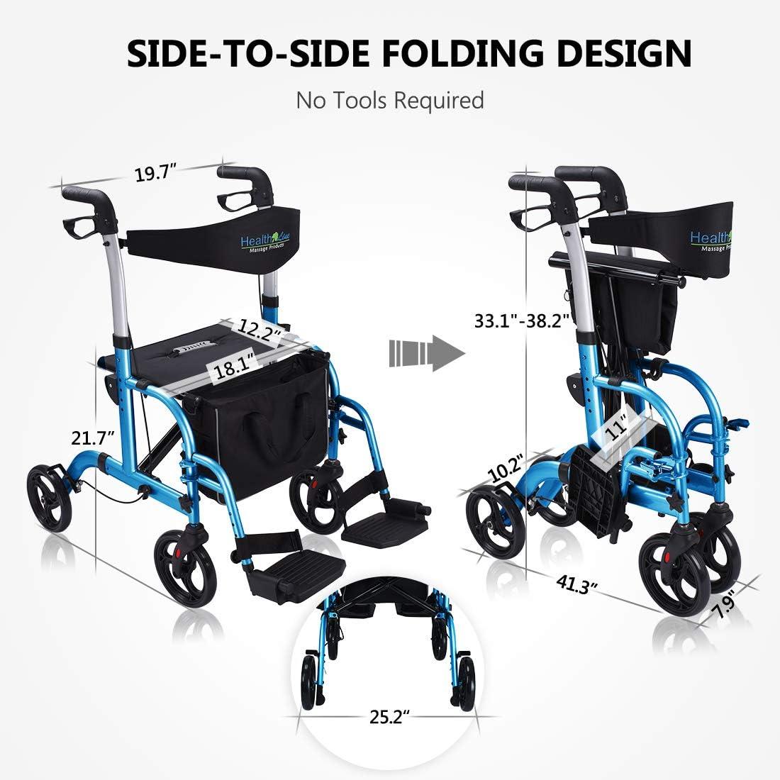 Amazon.com: Health Line Deluxe 2 en 1 - Silla de transporte ...